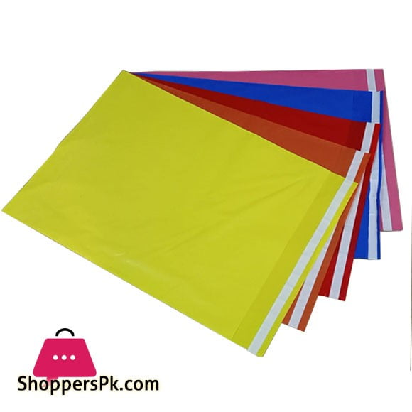 Courier Flyer Bags 5 Colours Pack – 100 Peaces – 14 ×18 Inch