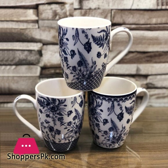 Flower Design Mug ( Set of 6 ) 44-8