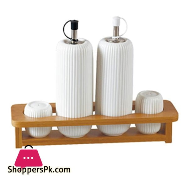 Imperial Oil And Vineger Set 4 Pcs Ceramic Sauce Set