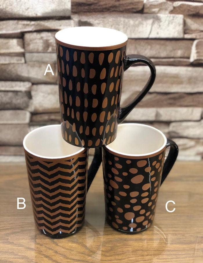 Jazzy Gold Mug ( Set of 6 ) 44-7