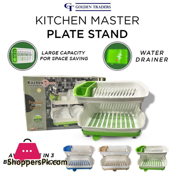 Kitchen Master Plate Stand Double Layer Dish Drainer