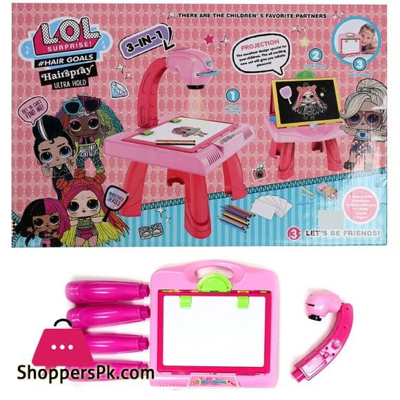 LOL Surprise 3 in 1 Kids Projector Desk