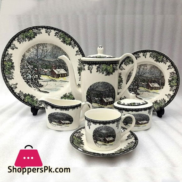 More & More Brand Stoneware Tea Sets 24 Pcs 661-1