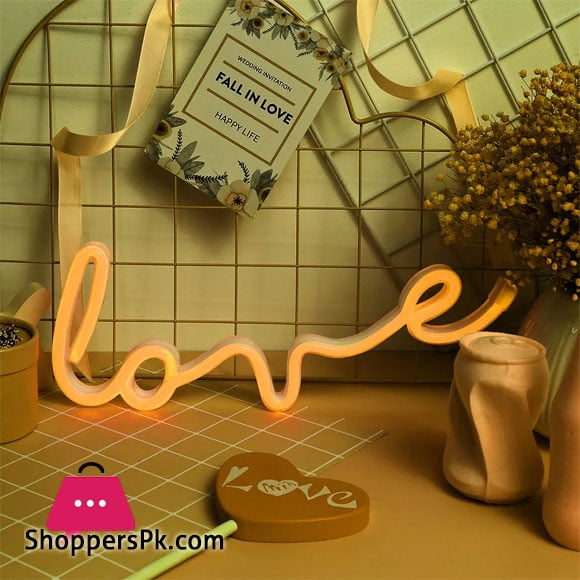 Novelty LOVE Sign LED Neon Light Wedding Party Decorative Lamp for Room Indoor