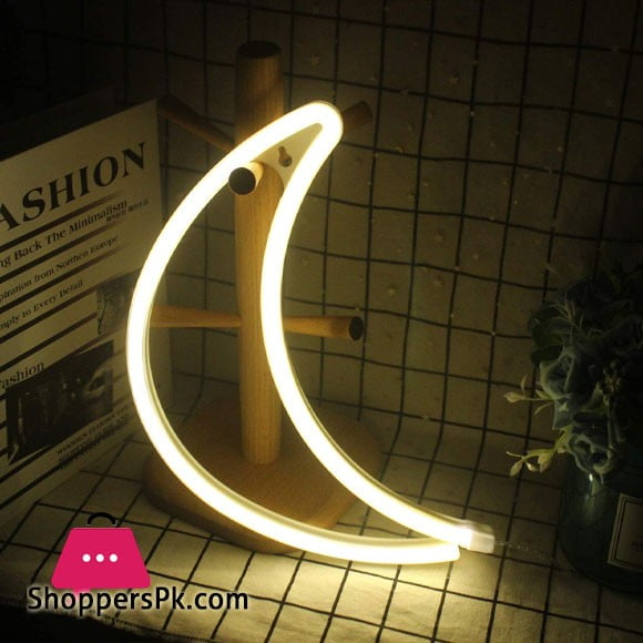 Novelty Moon LED Neon Light Wedding Party Decorative Lamp for Room Indoor
