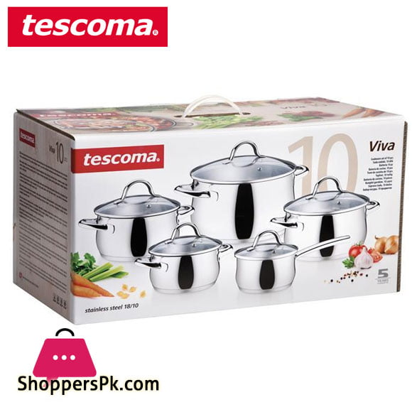 Tescoma Cookware Viva Set 10 Pcs #716450 Italy Made