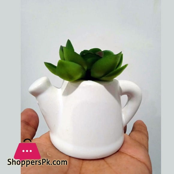 The Florist Artificial Plant with Small Tea Pot
