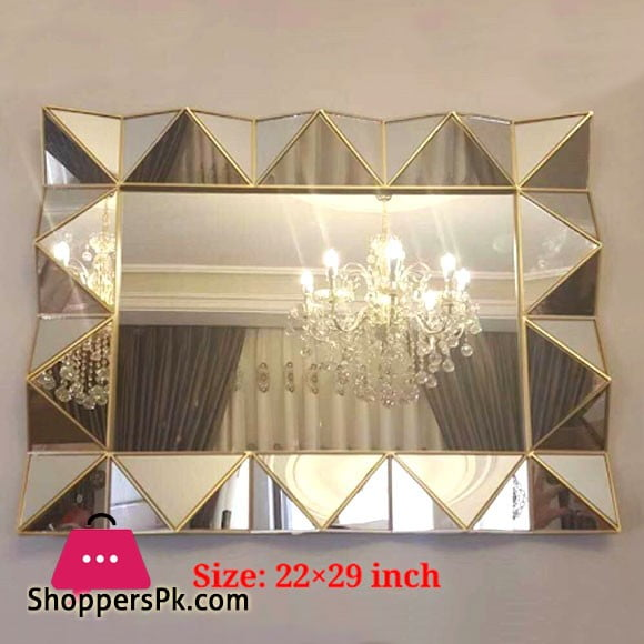 Wall Hanging Mirror Rectangle 22 x 29 Inch Large
