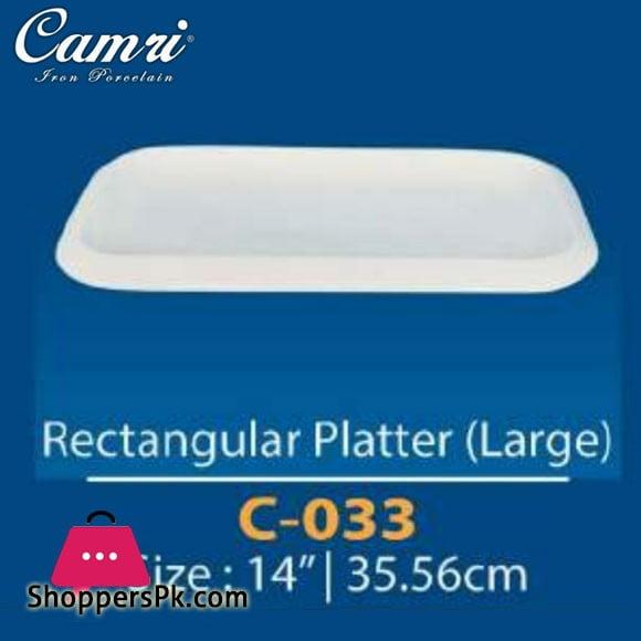 Camri Rectangular Plate (Large) 14 Inch -1 Pcs