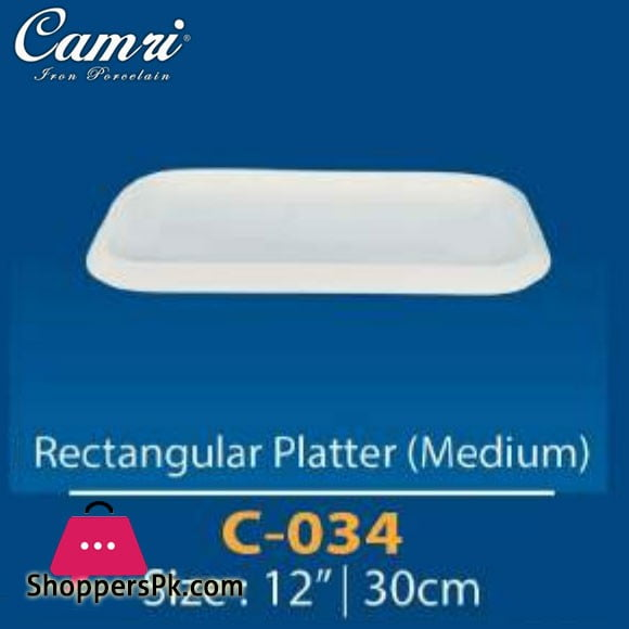 Camri Rectangular Plate (medium) 12 Inch -1 Pcs