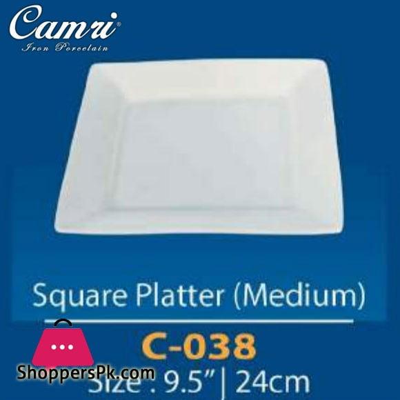 Camri Square Platter (Medium) 9.5 Inch -1 Pcs