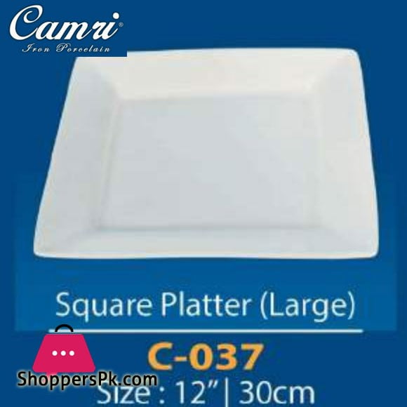 Camri Square Platter (large) 12 Inch -1 Pcs