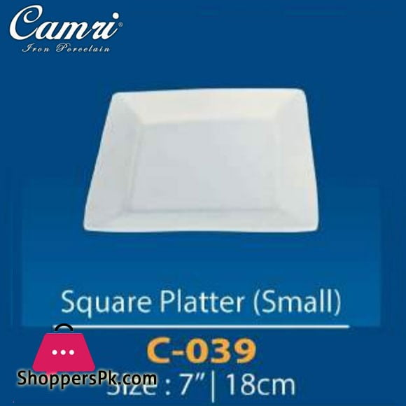 Camri Square Platter (small) 7 Inch -1 Pcs