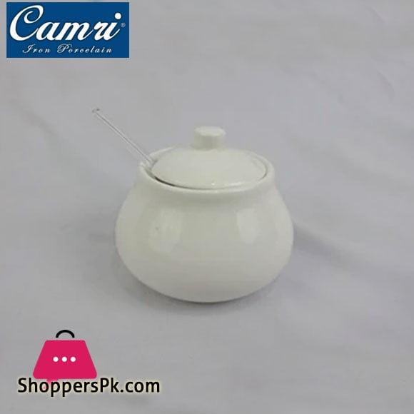 Camri Sugar Pot with Spoon 200ML -1 Pcs