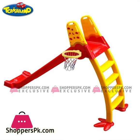 Chick Baby Slide Jumbo with Basketball Hoop - 6.5 Feet