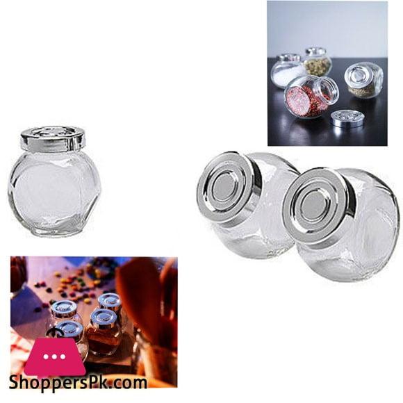 Spice Herb Jars Bottles Small Glass Mason Screw Lid 8cm 150ml ( Pack of 3 )