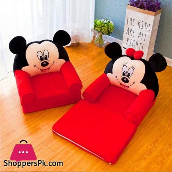 Mickey Mouse Child Armchair Fold Sofa Cartoon Seat Sofa Washable