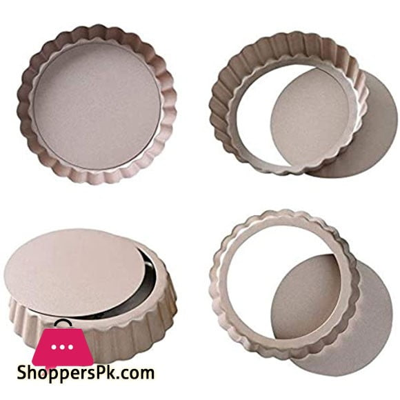Nonstick Mini Tartlet Custard Quiche Pastry Pie Pan 3-InchDiameter 1 Pcs
