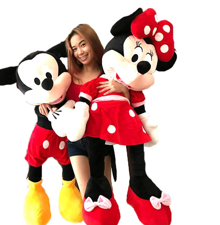 Plush Toys Mickey Mouse & Minnie Mouse Stuff Toys 2 - Feet