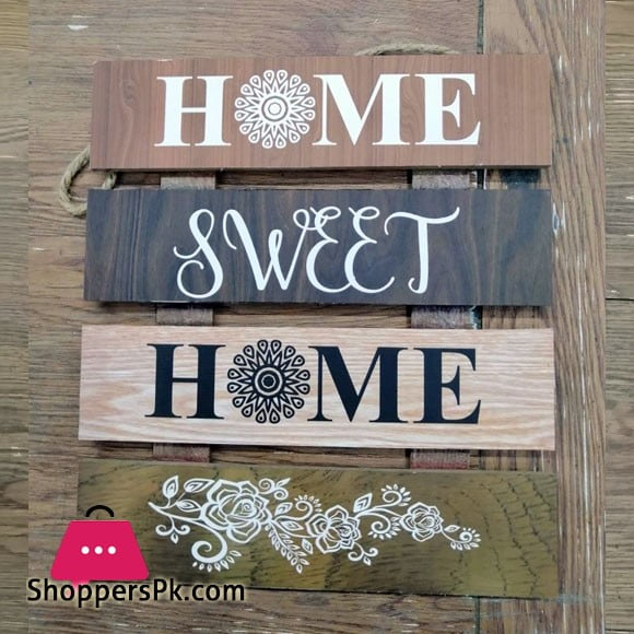 Wooden Wall Hanging Board Plaque Sign (Home Sweet Home) 8 x 8 Inch