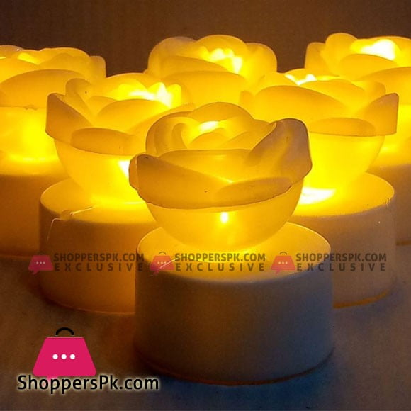 LED Rose Candles Pack of Six