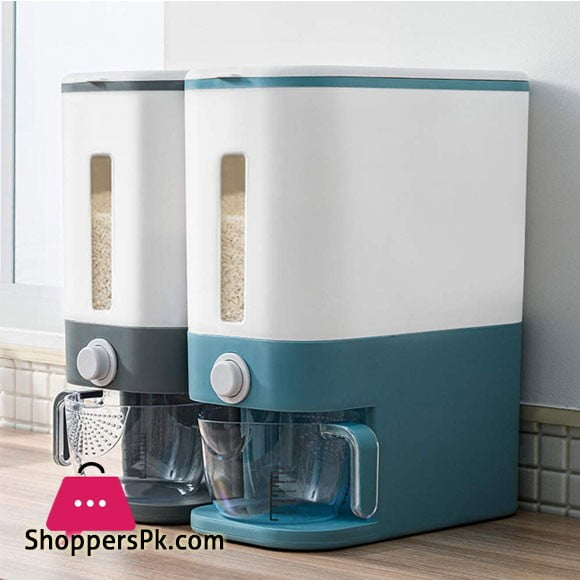12KG Airtight Rice Dispenser Dry Food Container Bucket Storage Bin for Keep Food Fresh with Measuring Cup