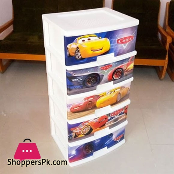 5 Layer Plastic Drawer (Cars)