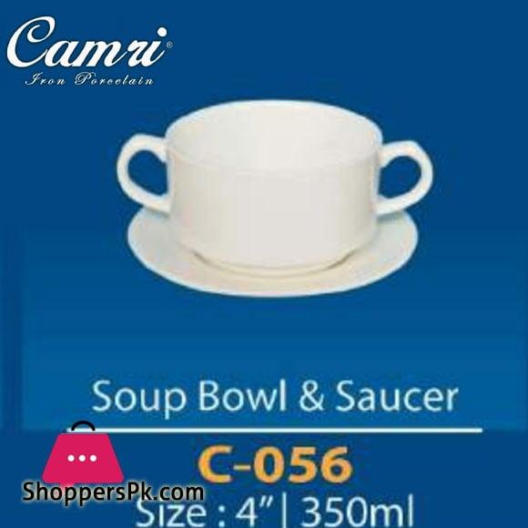Camri Soup Bowl & Saucer 350 ML -1 Pcs