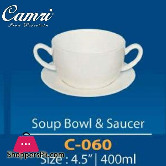 Camri Soup Bowl & Saucer 400ML -1 Pcs
