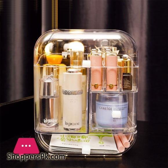 Desktop Acrylic Dustproof Cosmetic Storage Box Shelf Makeup Box