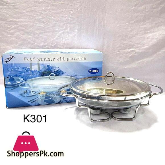 Food Warmer With Glass Dish 2 Liter K301