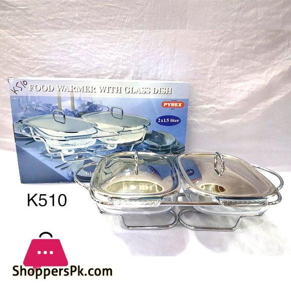 Food Warmer With Glass Dish 2 x 1.5 Liter K510