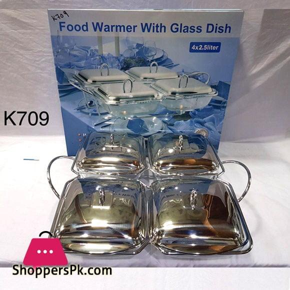 Food Warmer With Glass Dish 4 x 2.5 Liter K709