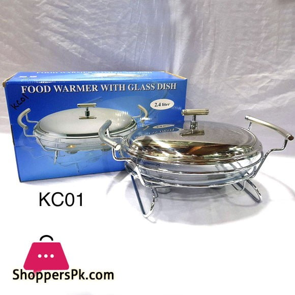 Food Warmer with Glass Dish 2.4 Liter KC01
