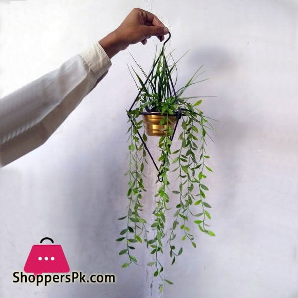 Hanging Artificial Flower with Rod Iron Stand for Home Decor