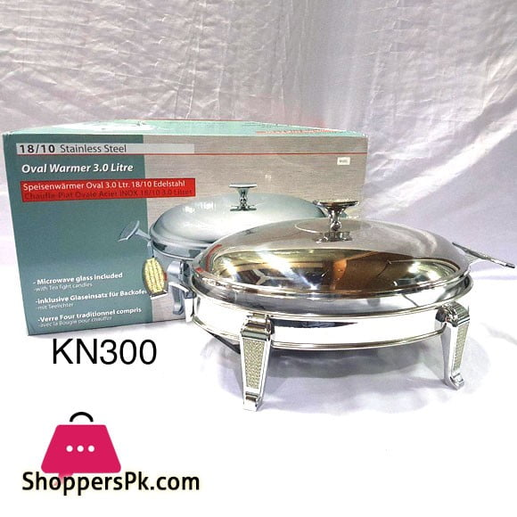 Inox Stainless Steel Oval Warmer 3 Liter KN300