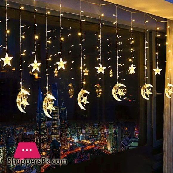 LED Star Curtain String Lights