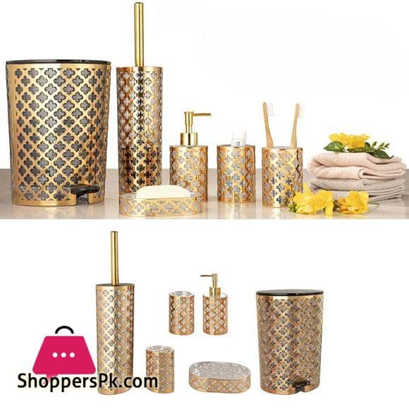 Limon 6 Pieces Bathroom Accessories Set Gold