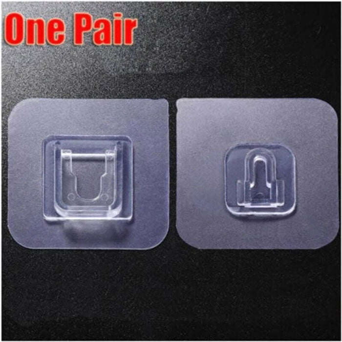 Magic Double Sided Wall Adhesive Storage Hook Paste Plug Socket Holder Fixing Organize 1 Pair