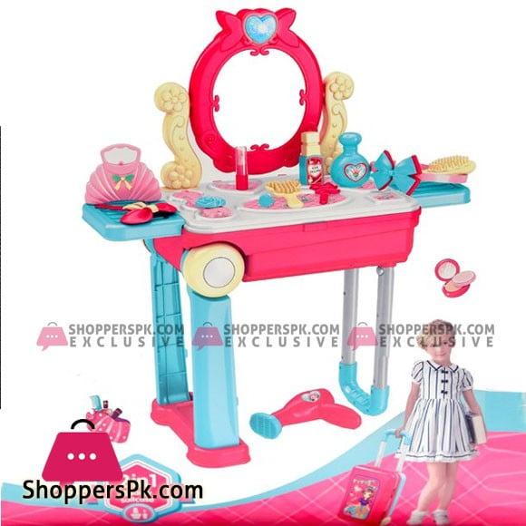 Makeup Vanity Table Kids Girls Toy Toddler Play Set Kit
