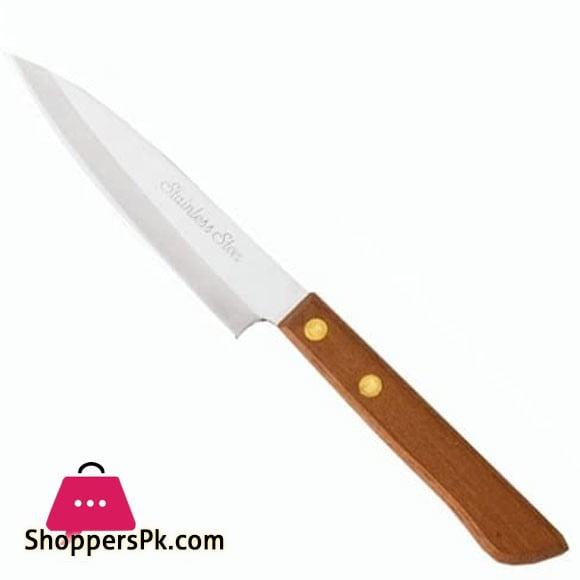 """Pirge Atlantik Meat Knife 7"""" Wood Handle 31012"""