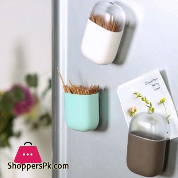 Plastic Toothpick Box with Fridge Magnet