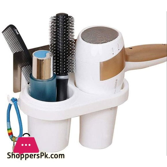Plastic Wall Mounted Hair Dryer Holder