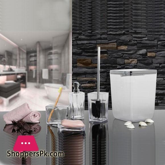 Primanova Biga Bathroom Set Transparent Chrome