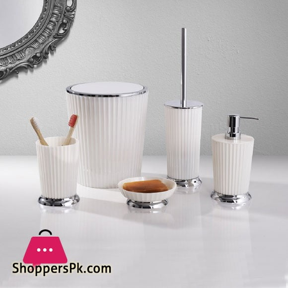 Primanova Nely Bathroom Set White Chrome
