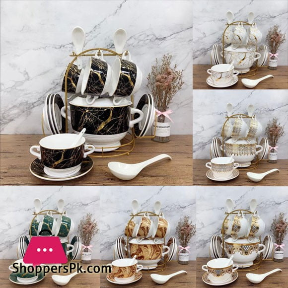 Solicasa 21 Pcs Soup Set with Stand