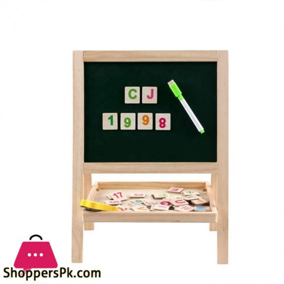 Double Sided Small Drawing Board Chalkboard Adjustable Standing Easel Holder for Kids