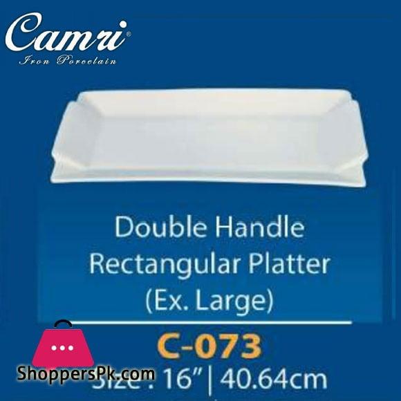 Camri Double Handle Rectangular Platter (Ex.large) 16 Inch - 1 Pcs