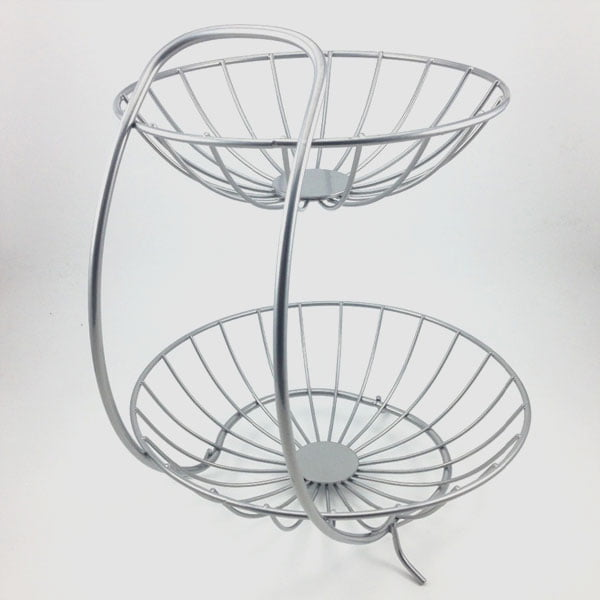2 Tiers Stainless Steel Fruit Basket
