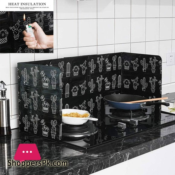 3-Sided Splatter Shield Guard for Cooking, Kitchen Oil Baffle Plate Stove Heat Insulation Sheet Aluminum Foil Oil Splash Proof Cooking Tool